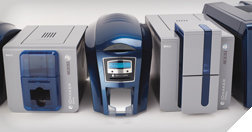 Shop ID card printer machines used to make id badges