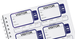 Assortment of visitor or guest login books