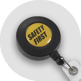 Safety First Badge Reel