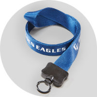 Royal Blue custom lanyard