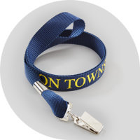 Navy blue custom lanyard