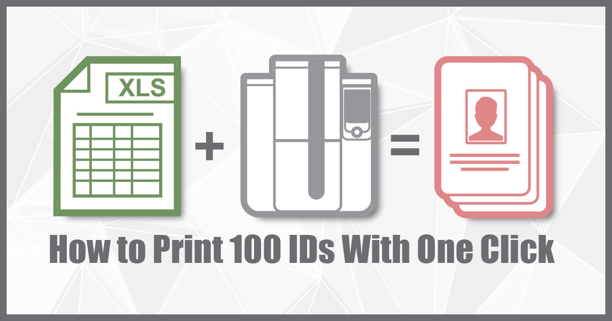 How to print 100 IDs with one click