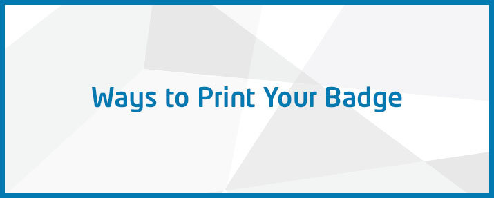 Ways to print your ID badge