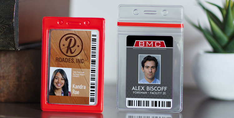 Badge Holders and blank ID Cards
