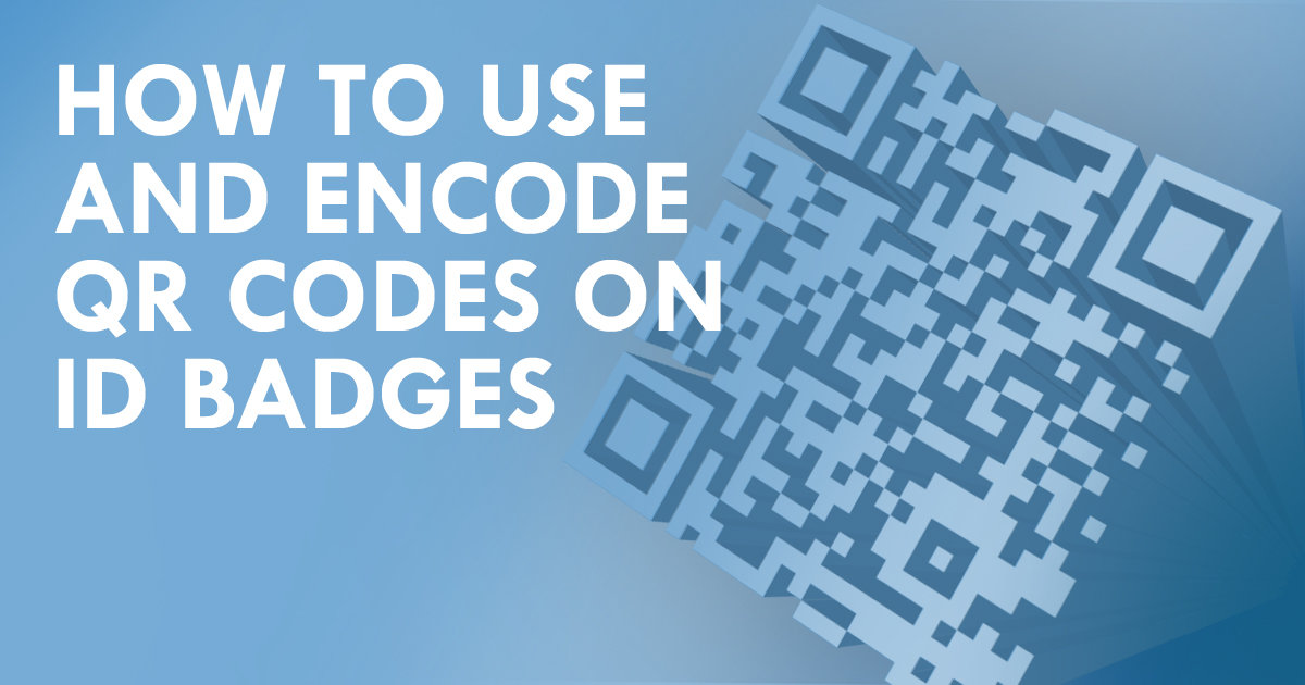 How to use and encode QR codes on ID badges