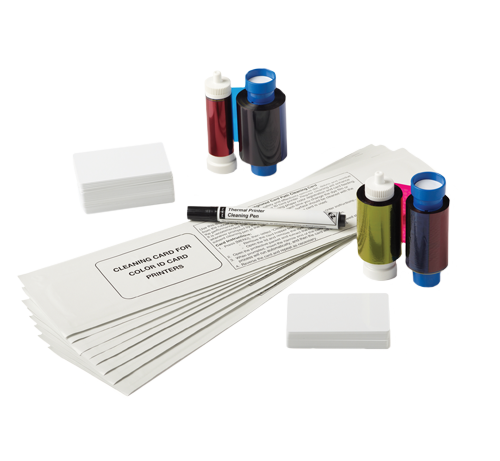 Shop id card printer supplies like blank PVC cards, ribbons and cleaning kits from top brands like Fargo, Magicard, Datacard, Zebra and more.